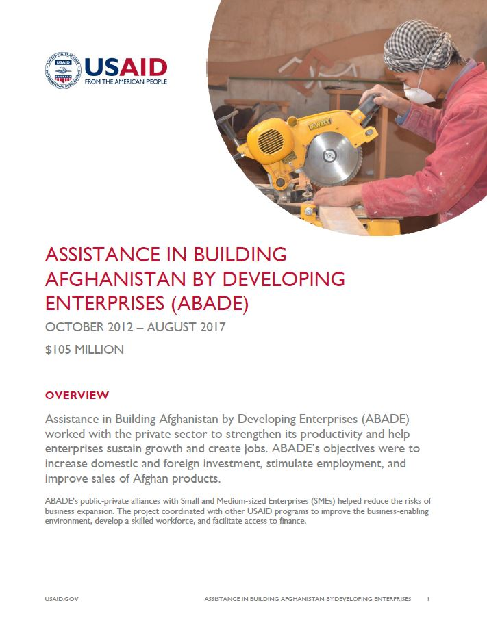 Assistance in Building Afghanistan by Developing Enterprises (ABADE)