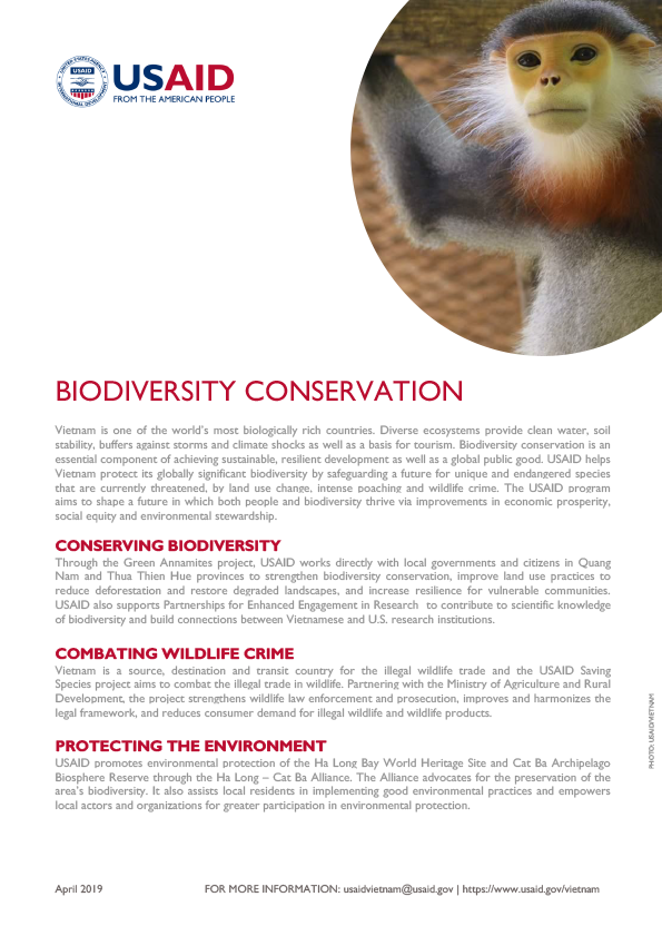 Fact Sheet: Biodiversity Conservation (April 2019)