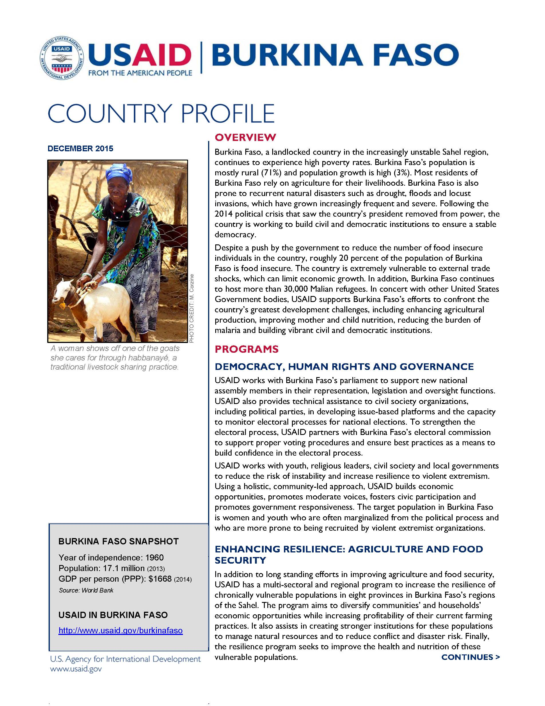 Burkina Faso Country Profile