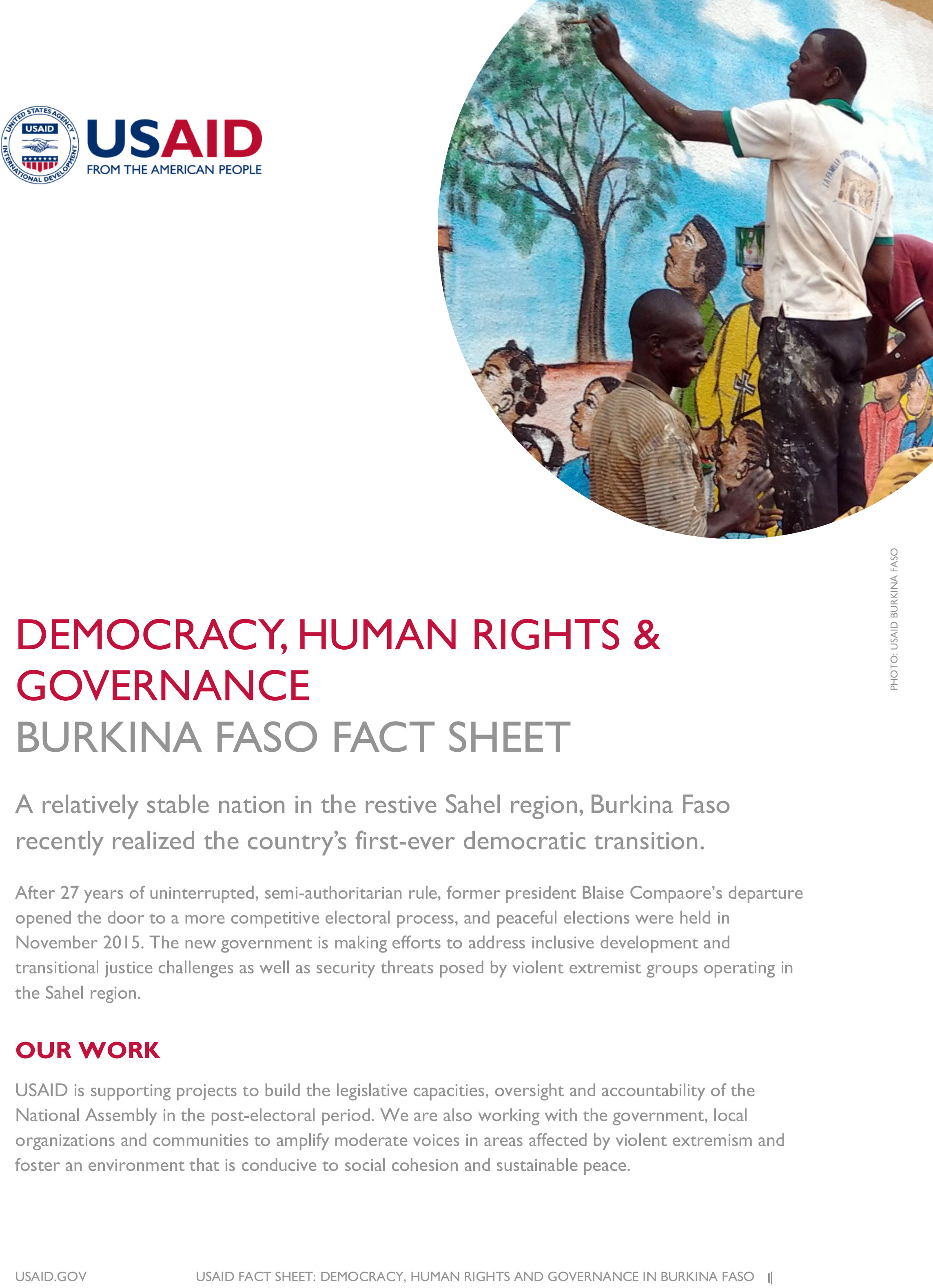 Burkina Faso Fact Sheet-Democracy, Human Rights & Governance