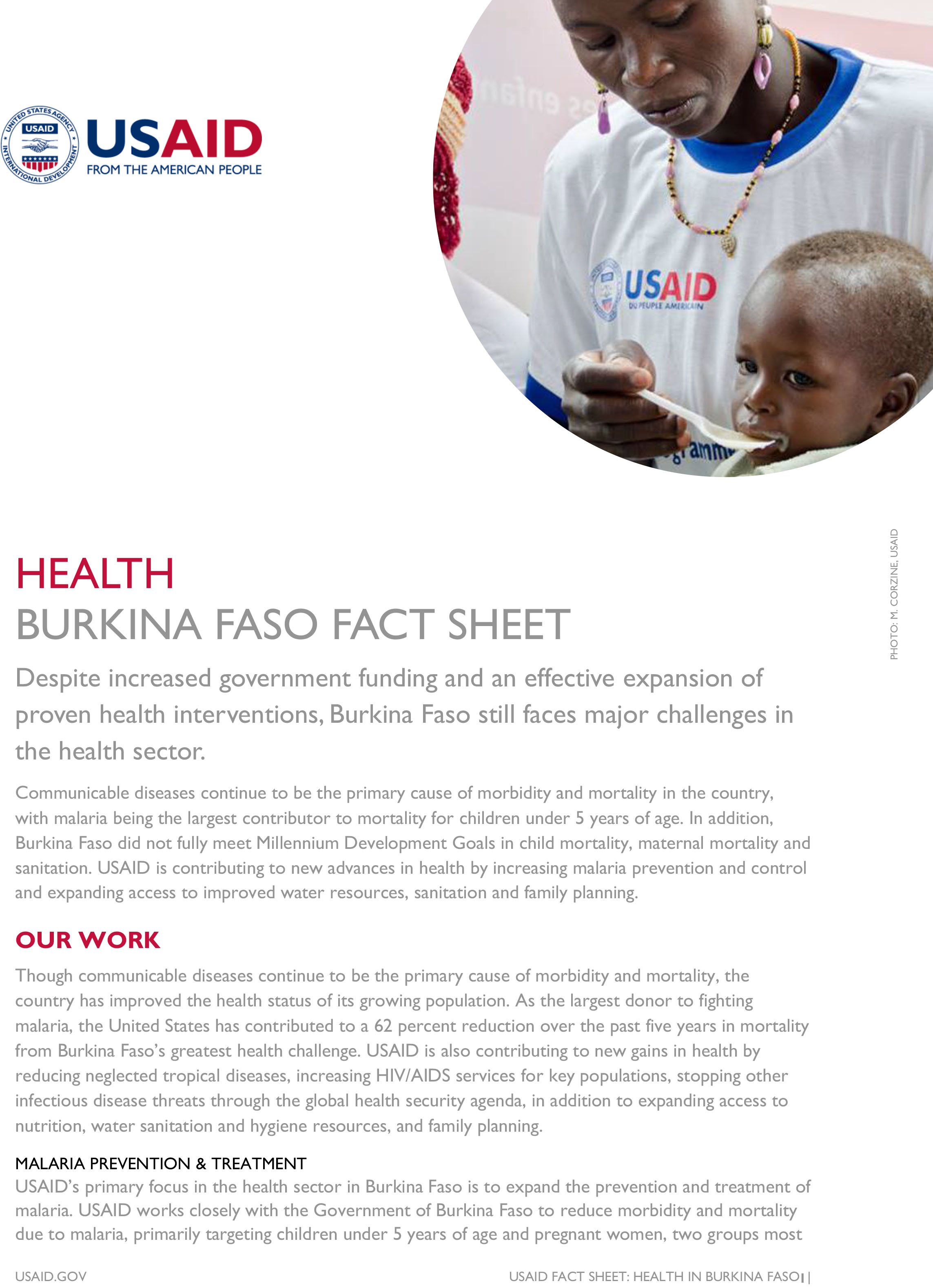 Burkina Faso Fact Sheet-Health