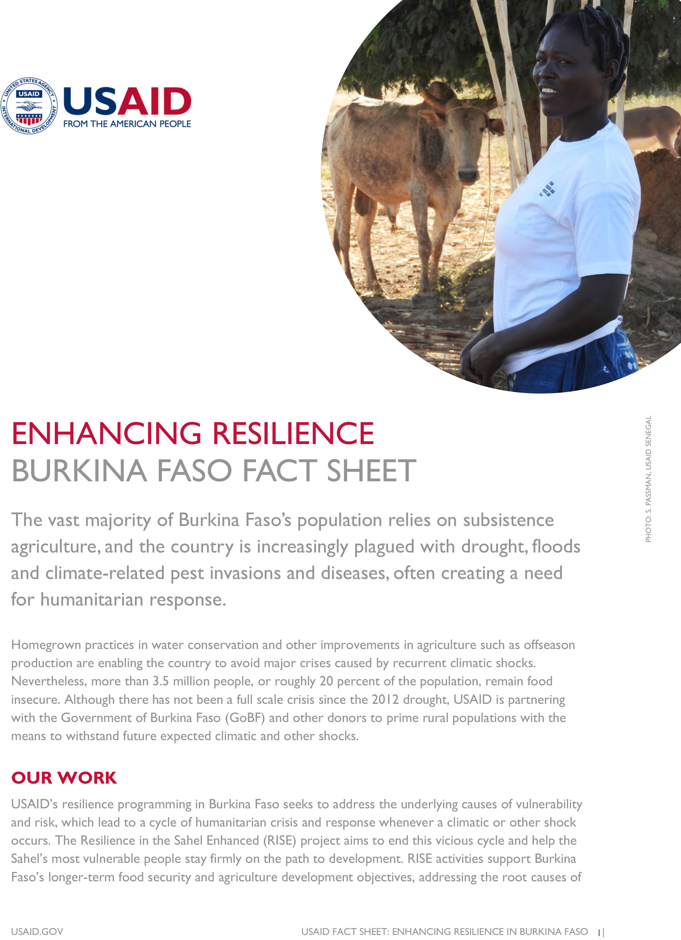 Burkina Faso Fact Sheet-Enhancing Resilience
