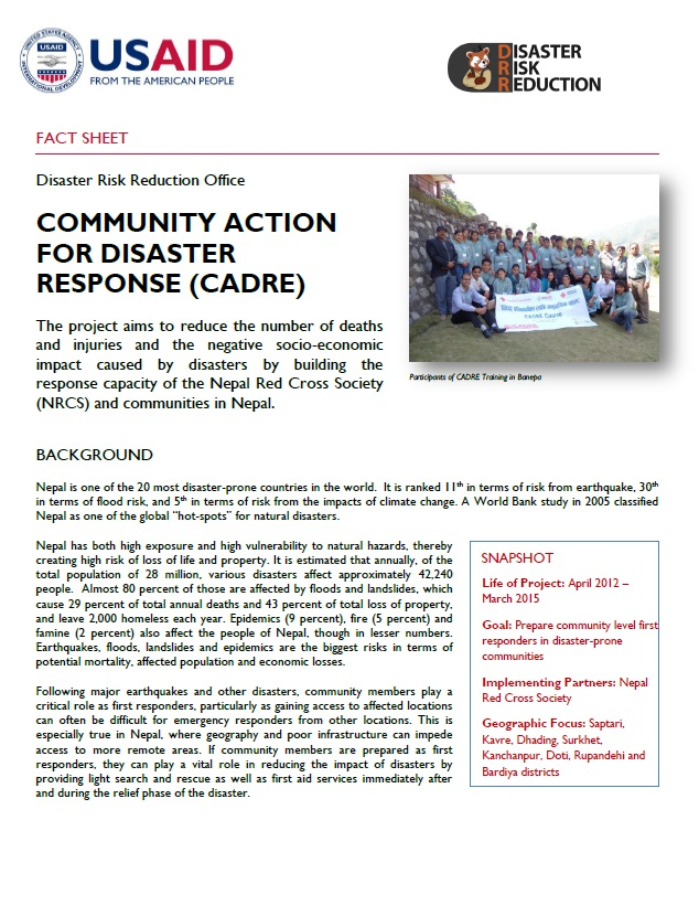 Community Action for Disaster Response