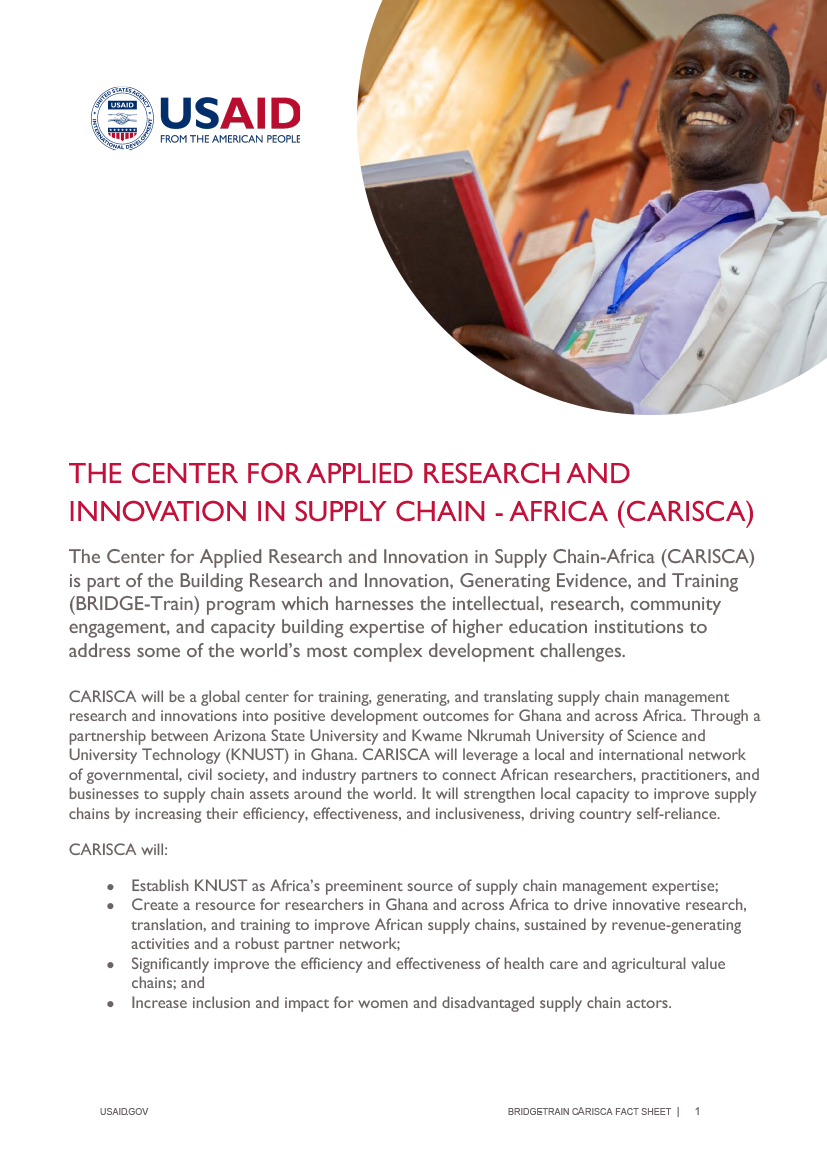 The Center for Applied Research and Innovation in Supply Chain-Africa (CARISCA)
