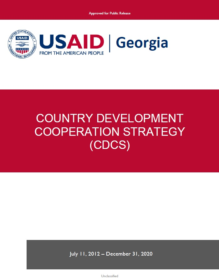 Georgia Country Development Cooperation Strategy 2013 – 2020
