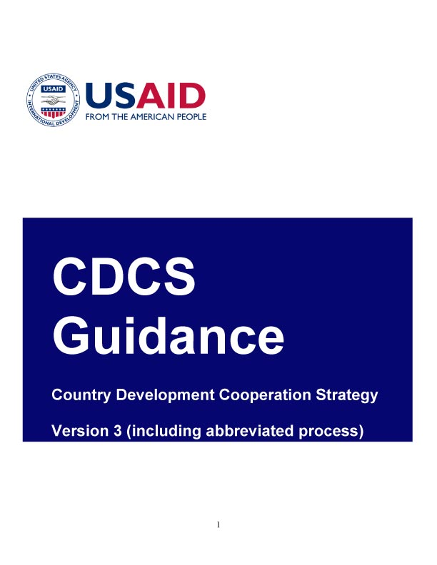 USAID Country Development Cooperation Strategy Guidance – Version 3
