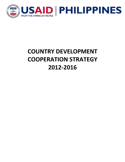 Philippines Country Development Cooperation Strategy FY2012-2016
