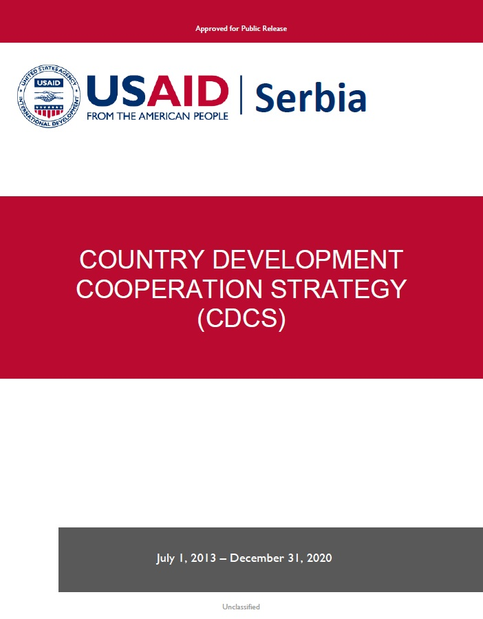 Serbia Country Development Cooperation Strategy FY 2013 – 2020