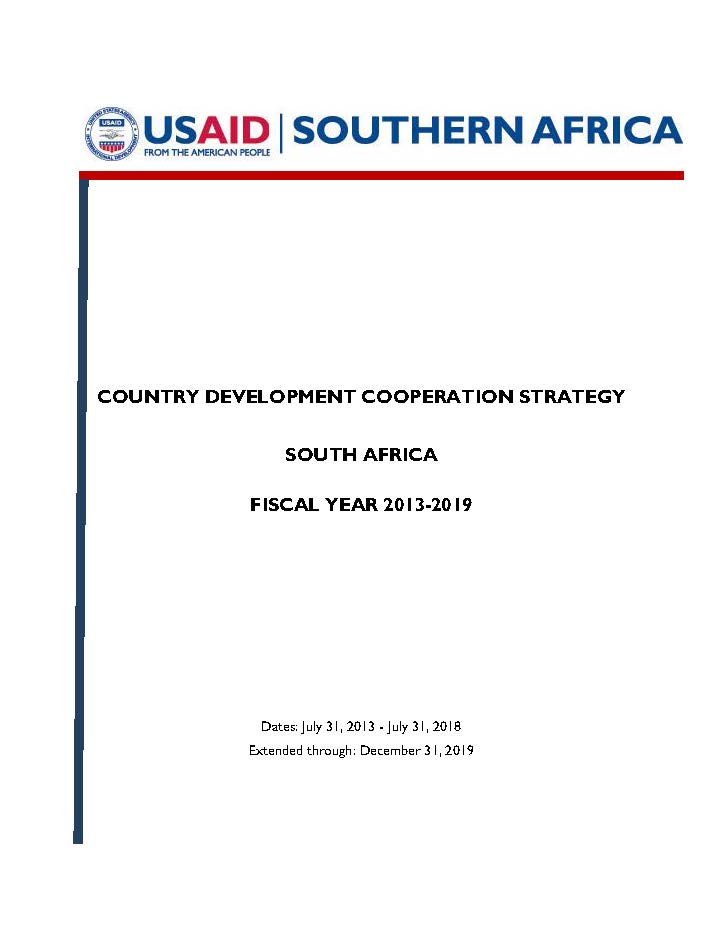 South Africa Country Development Cooperation Strategy