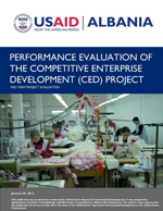 PERFORMANCE EVALUATION OF THE COMPETITIVE ENTERPRISE DEVELOPMENT (CED) PROJECT MID-TERM PROJECT EVALUATION January