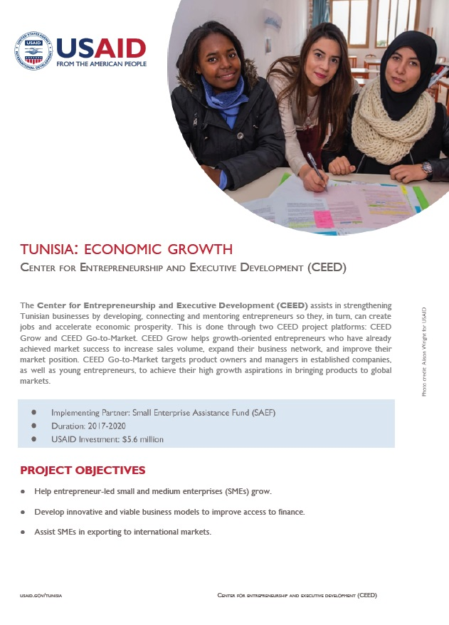 USAID/Tunisia CEED Fact Sheet