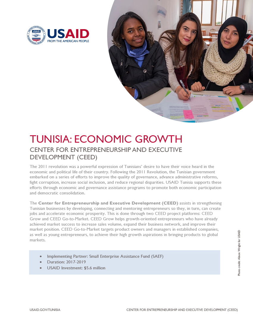 Center for Entrepreneurship and Executive Development (CEED) Fact Sheet