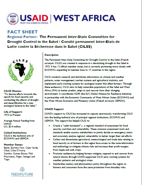 Fact Sheet on our partnership with the Permanent Inter-State Committee for Drought Control in the Sahel /