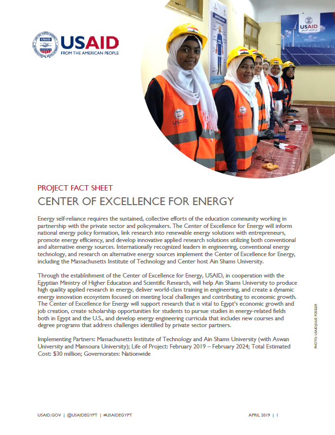 Center of Excellence for Energy