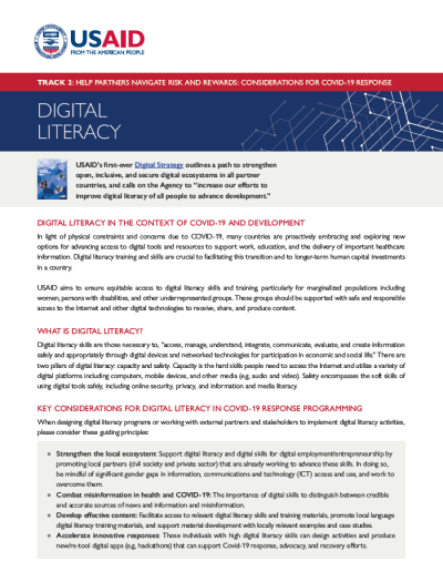 COVID-19 and Digital Literacy