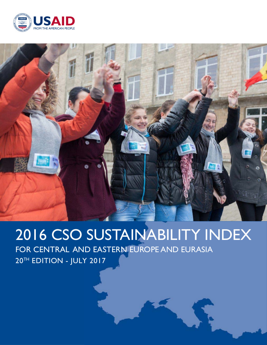 2016 Civil Society Organization (CSO) Sustainability Index for Central and Eastern Europe and Eurasia