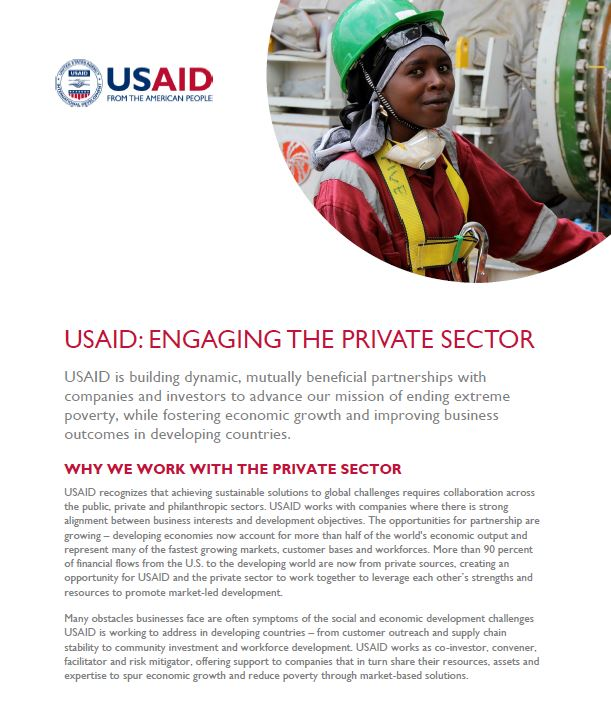 Engaging the Private Sector Fact Sheet