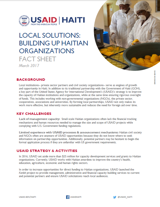 Local Solutions Fact sheet - March 2017