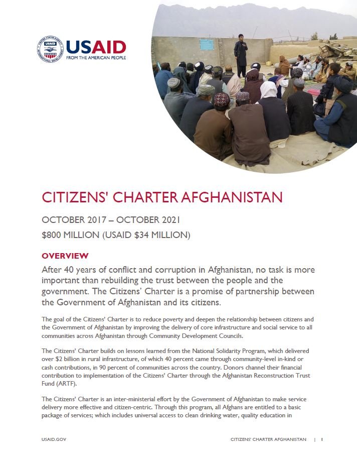 Citizens' Charter Afghanistan