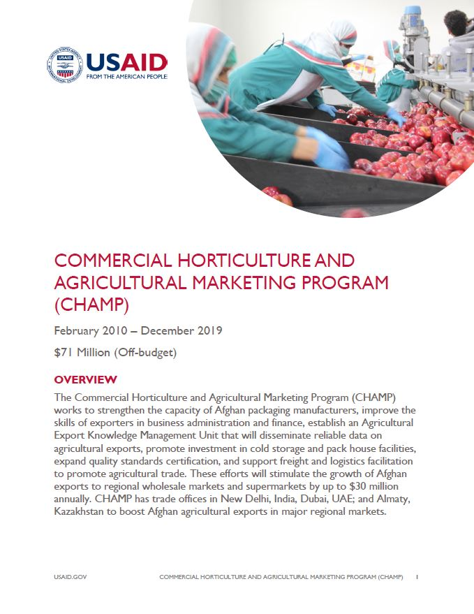 Commercial Horticulture and Agricultural Marketing Program