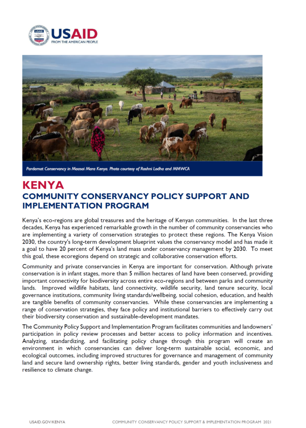Community Policy Support and Implementation Program fact sheet