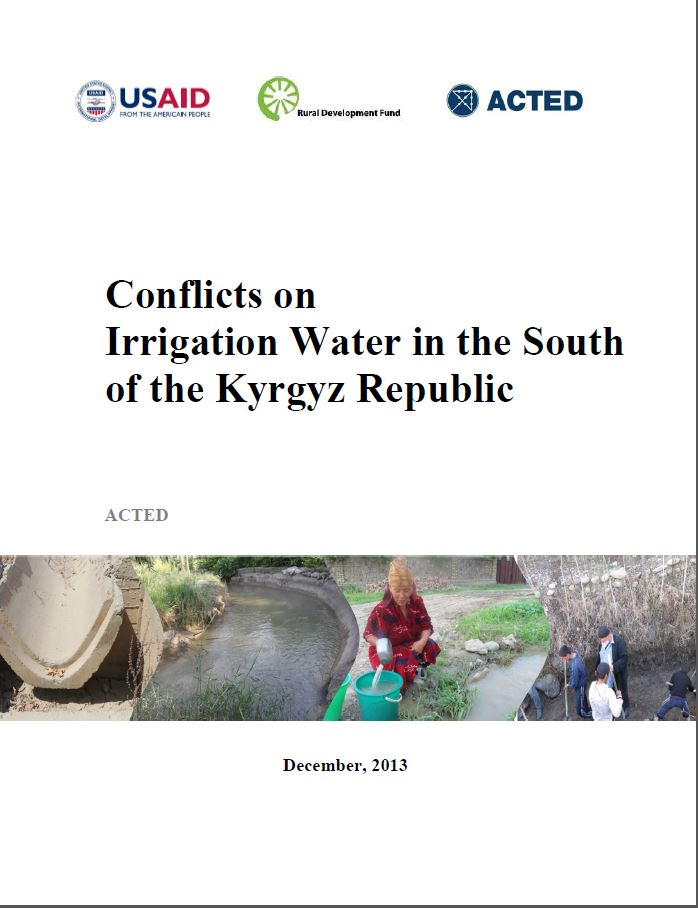 COMTACA Irrigation Water Conflict Sources Report- English