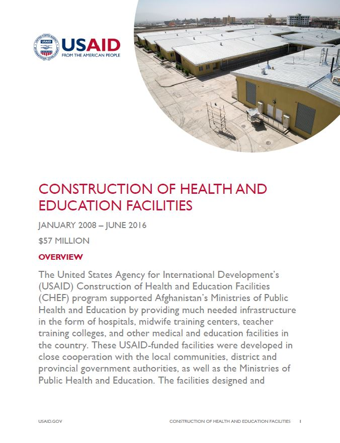 Construction of Health and Education Facilities (CHEF)