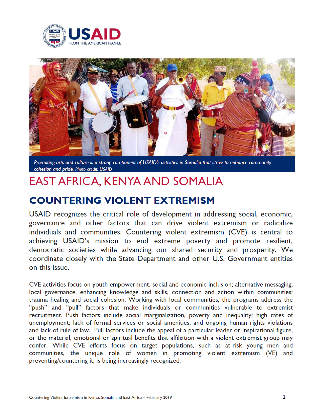 Countering Violent Extremism fact sheet