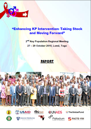 Report on West Africa's Second Key Population Regional Meeting, in Togo, October 27-29, 2015.