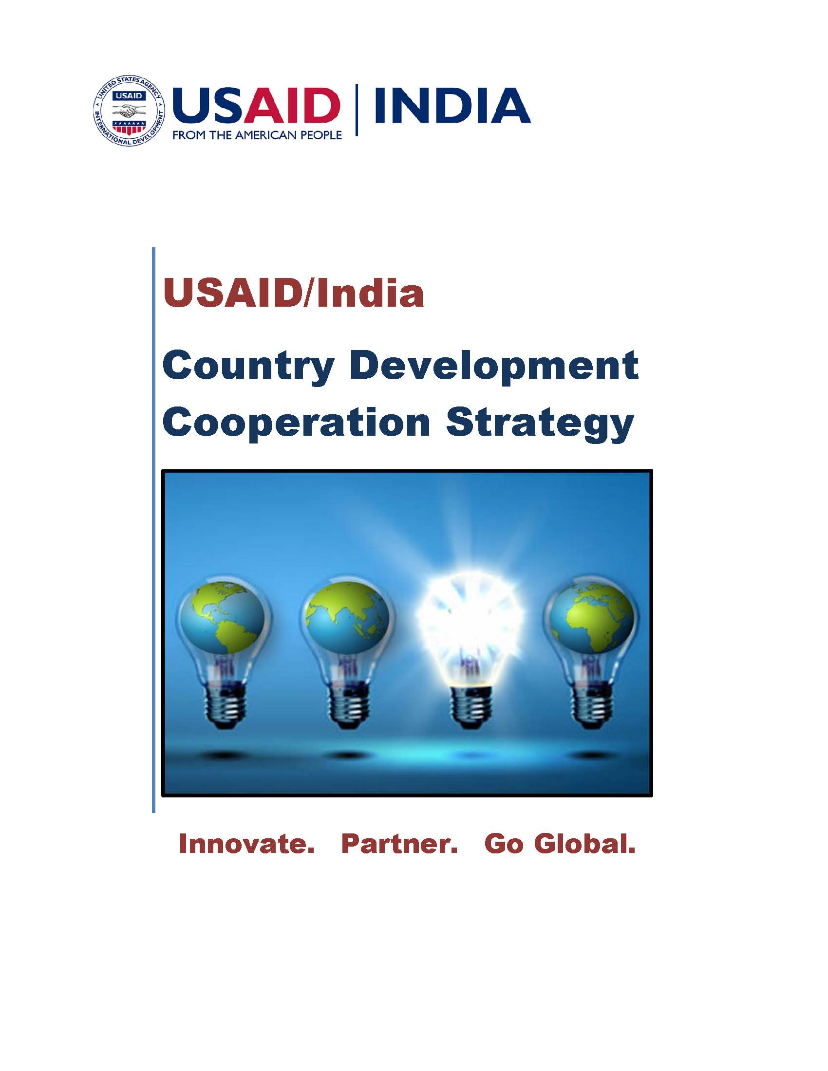 USAID/India Country Development Cooperation Strategy .