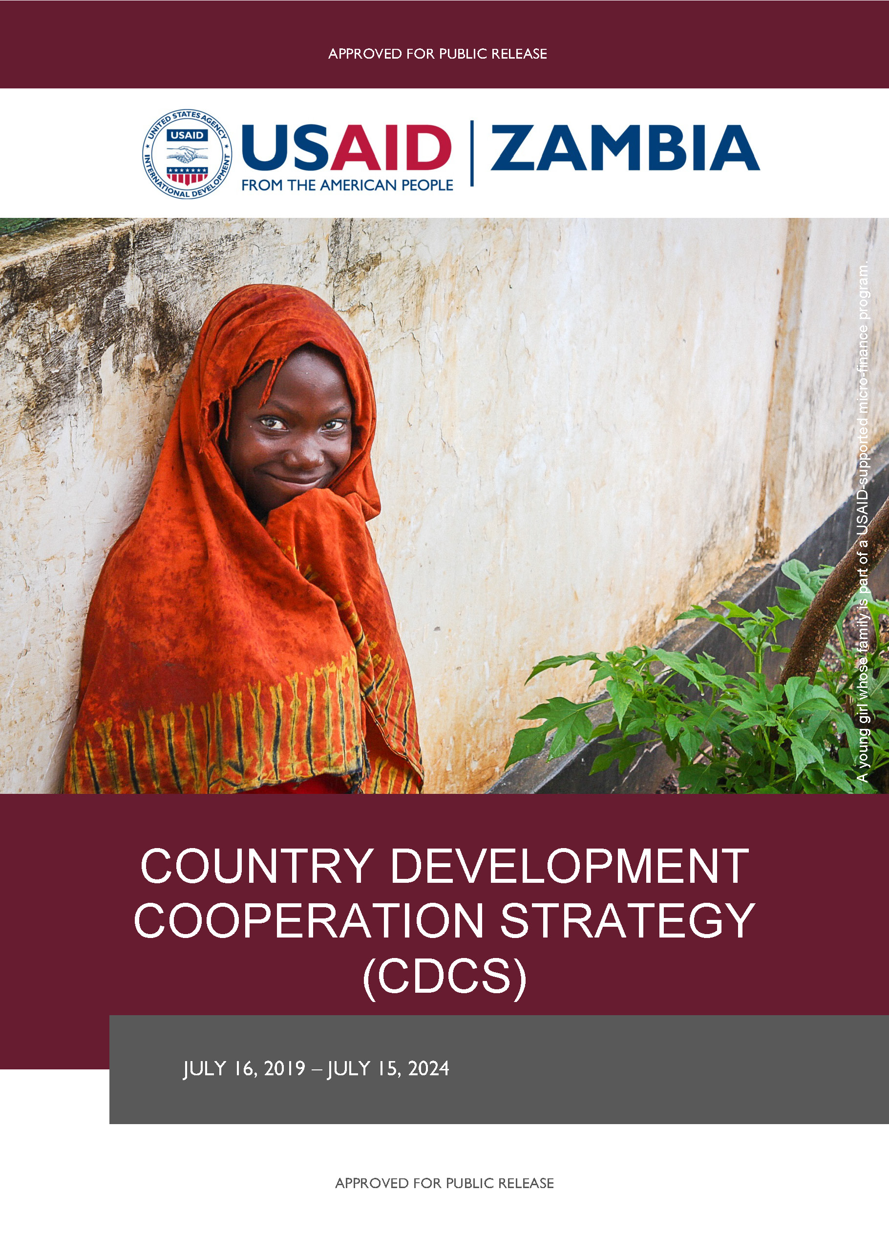 USAID/Zambia 2019-2024 Country Development Cooperation Strategy (CDCS)