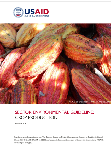 Sector Environmental Guideline: Crop Production (2019)
