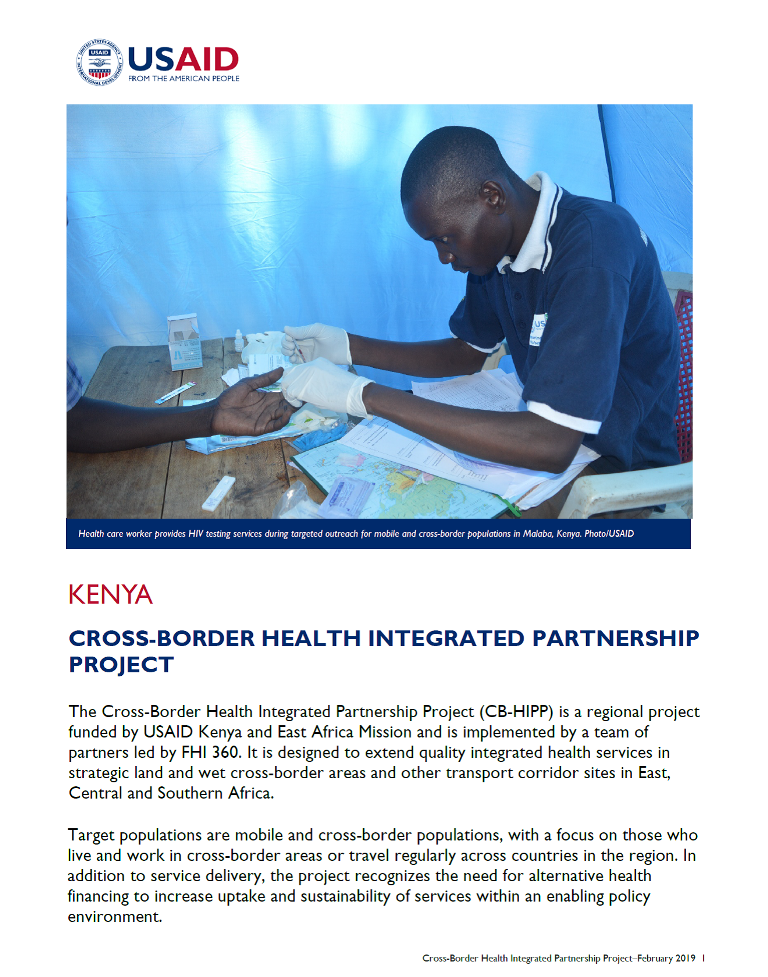 Cross-Border Health Integrated Partnership Project fact sheet