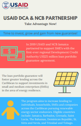 USAID DCA and NCB Jamica Infographic