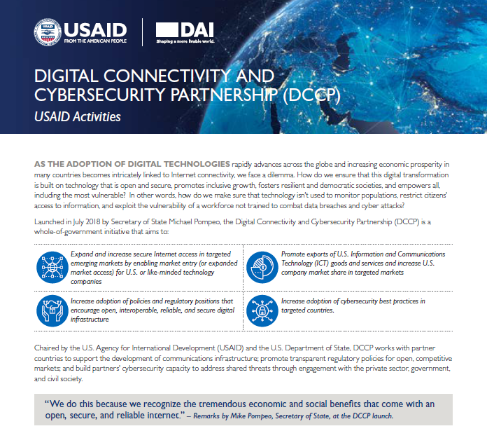 Digital Connectivity and Cybersecurity Partnership (DCCP) Factsheet
