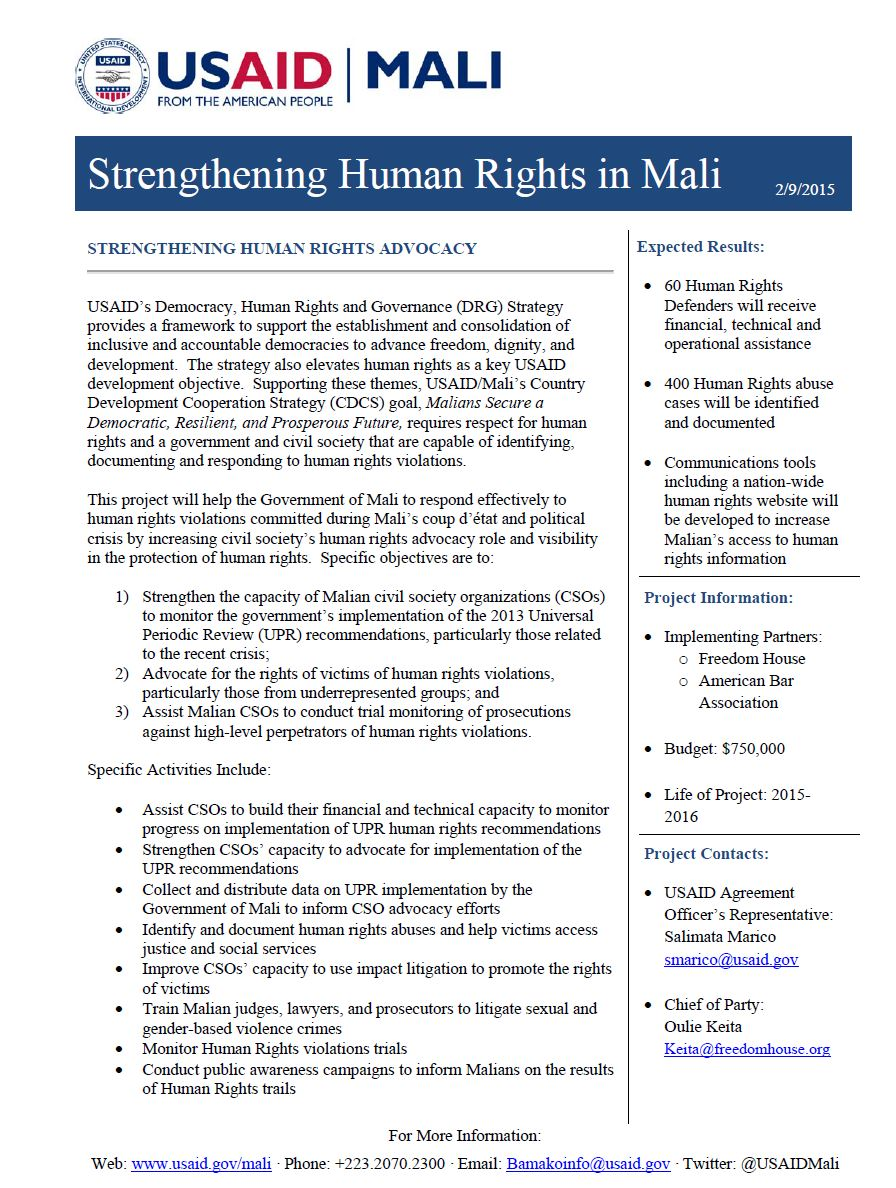 Human Rights Strengthening Advocacy