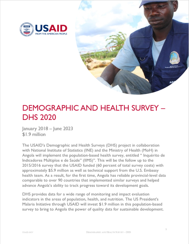 Demographic and Health Surveys (DHS) Fact sheet
