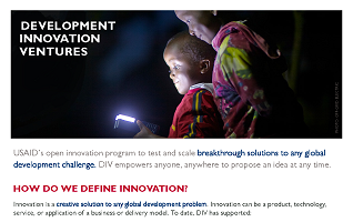 Development Innovation Ventures Fact Sheet