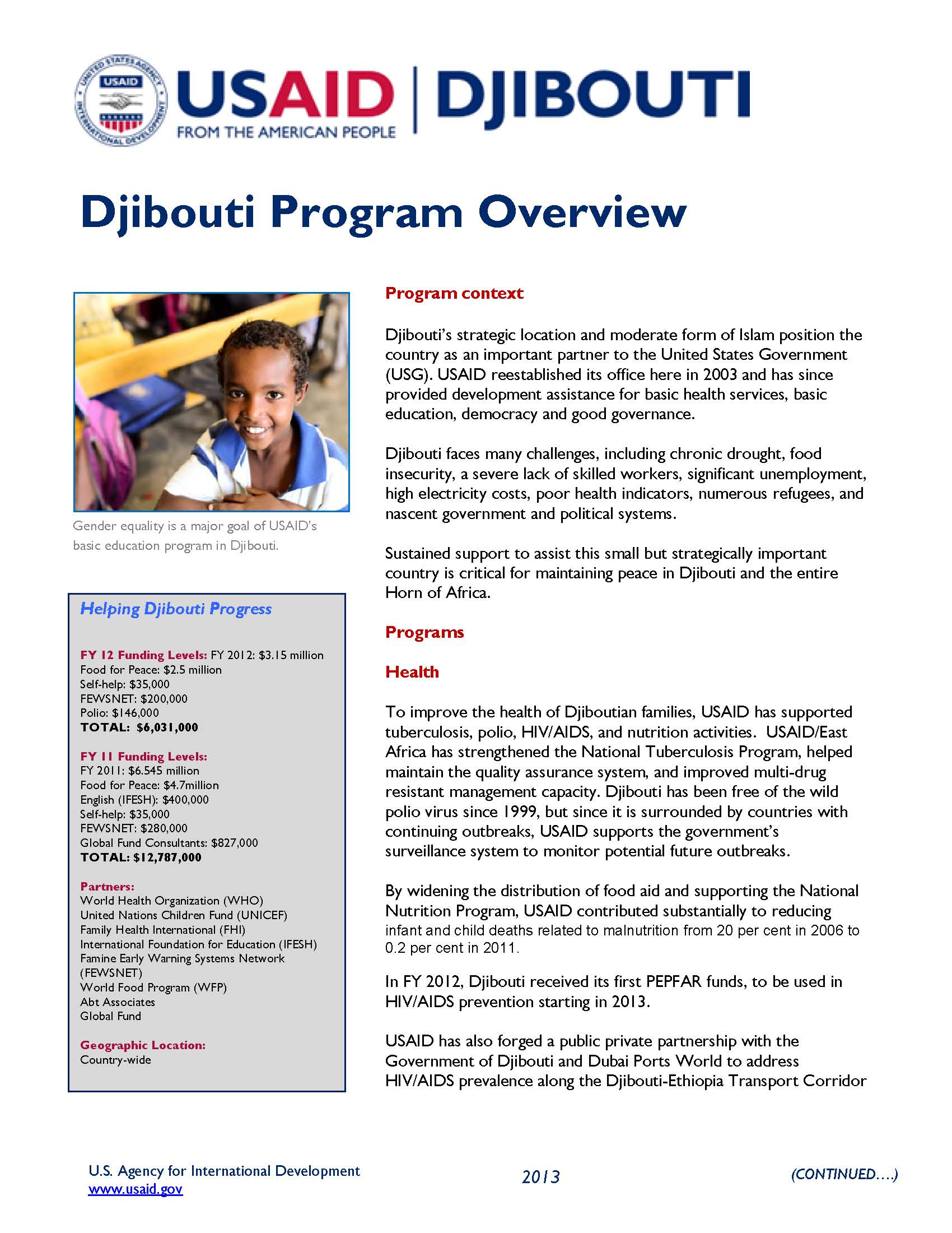 Djibouti Program Fact Sheet