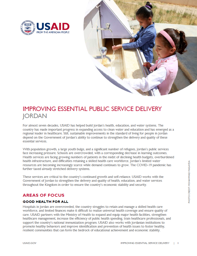 Improving Essential Public Service Delivery Fact Sheet