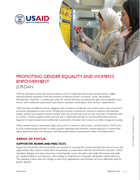 Promoting Gender Equality and Women's Empowerment Fact Sheet