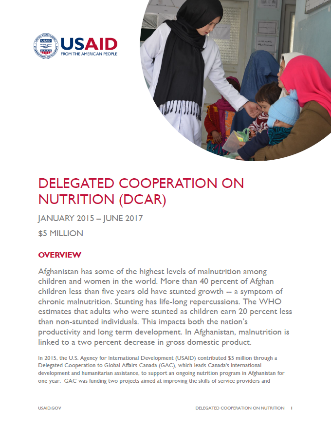 Delegated Cooperation on Nutrition