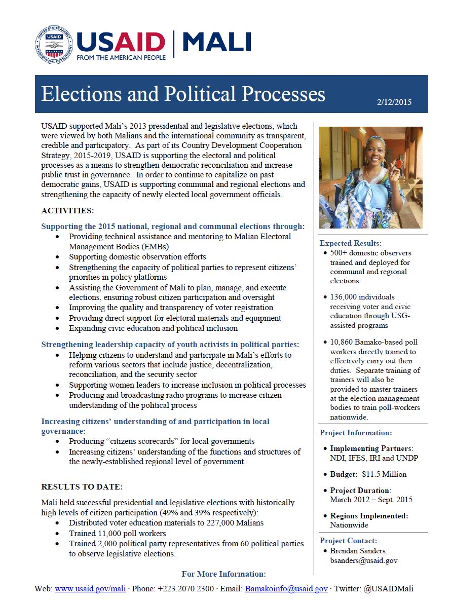 Elections Factsheet