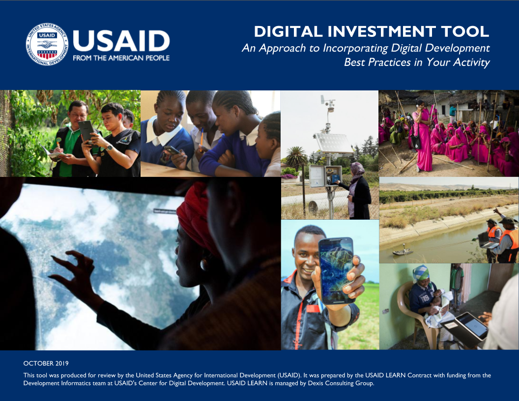 Digital Investment Tool: An Approach to Incorporating Digital Development Best Practices in Your Activity