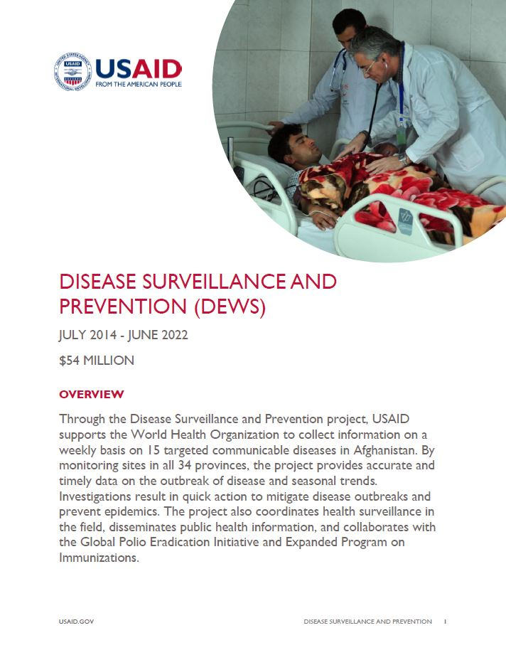 Disease Surveillance and Prevention (DEWS)