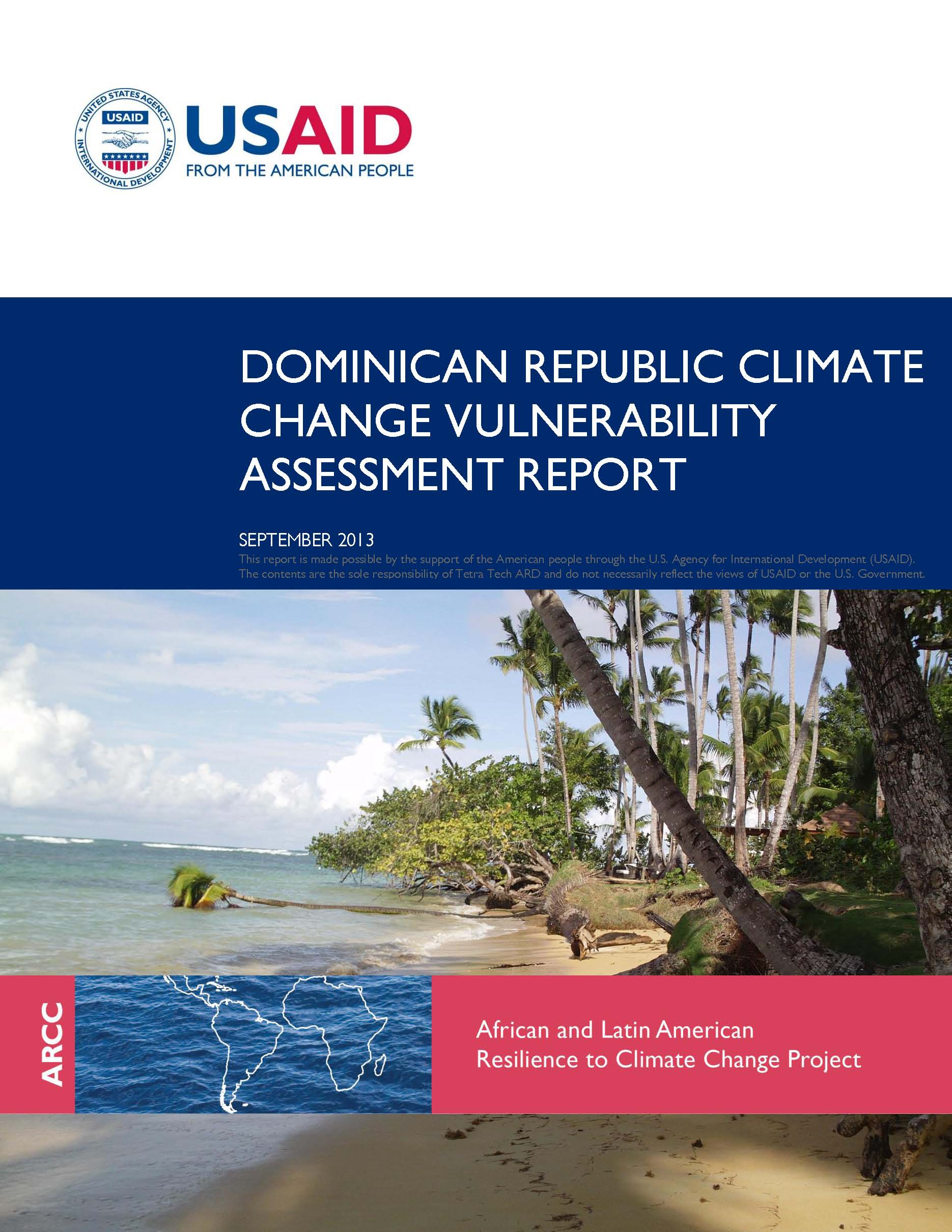 Assessment report of Dominican Republic's climate change vulnerability