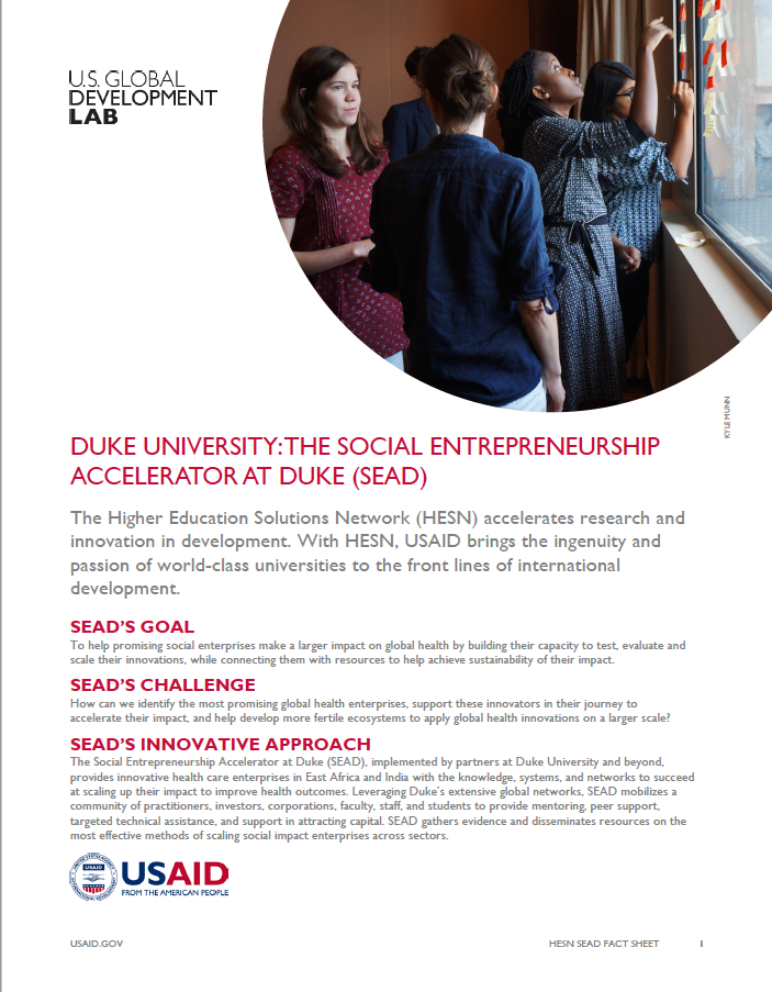 Duke University's Social Entrepreneurship Accelerator at Duke