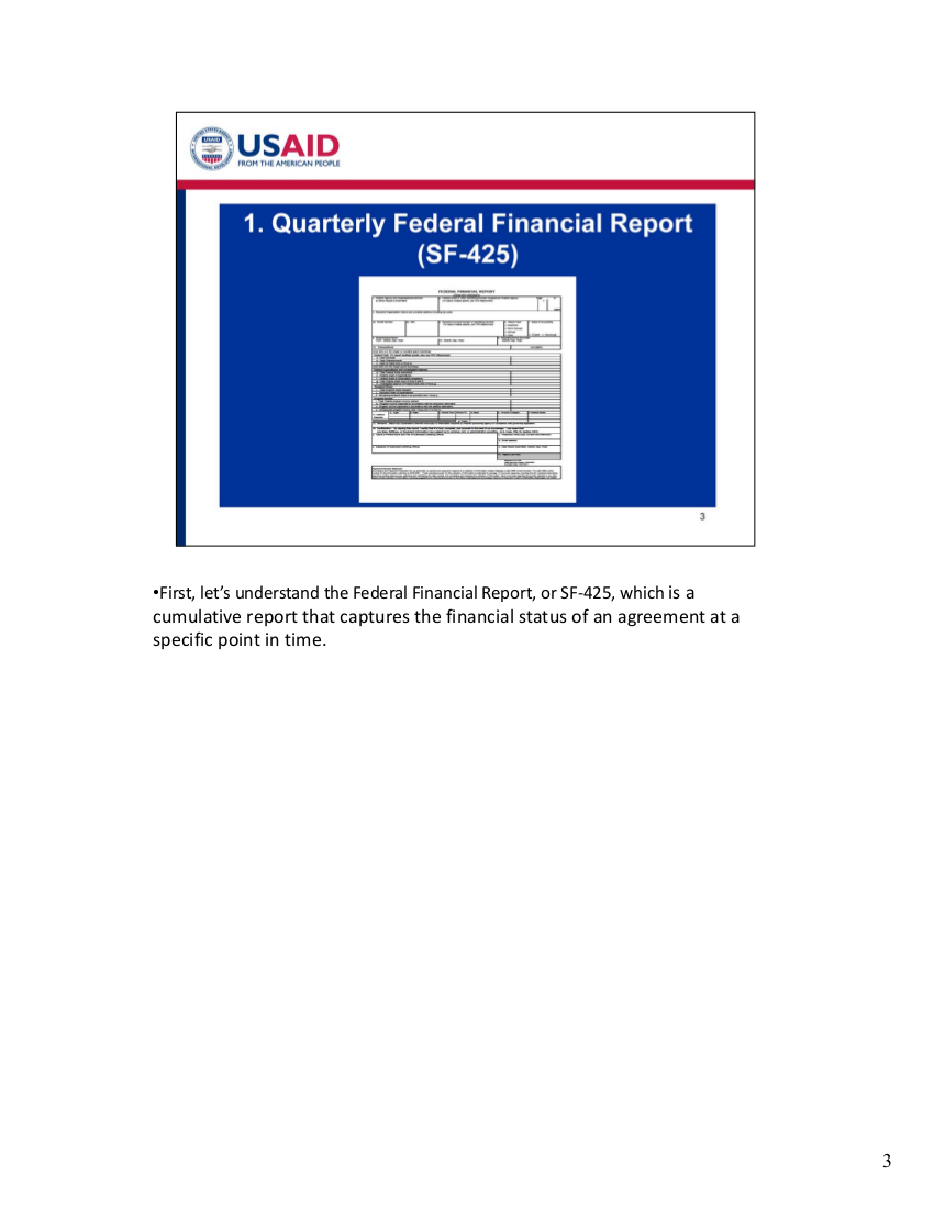 E-Module - Federal Financial Report