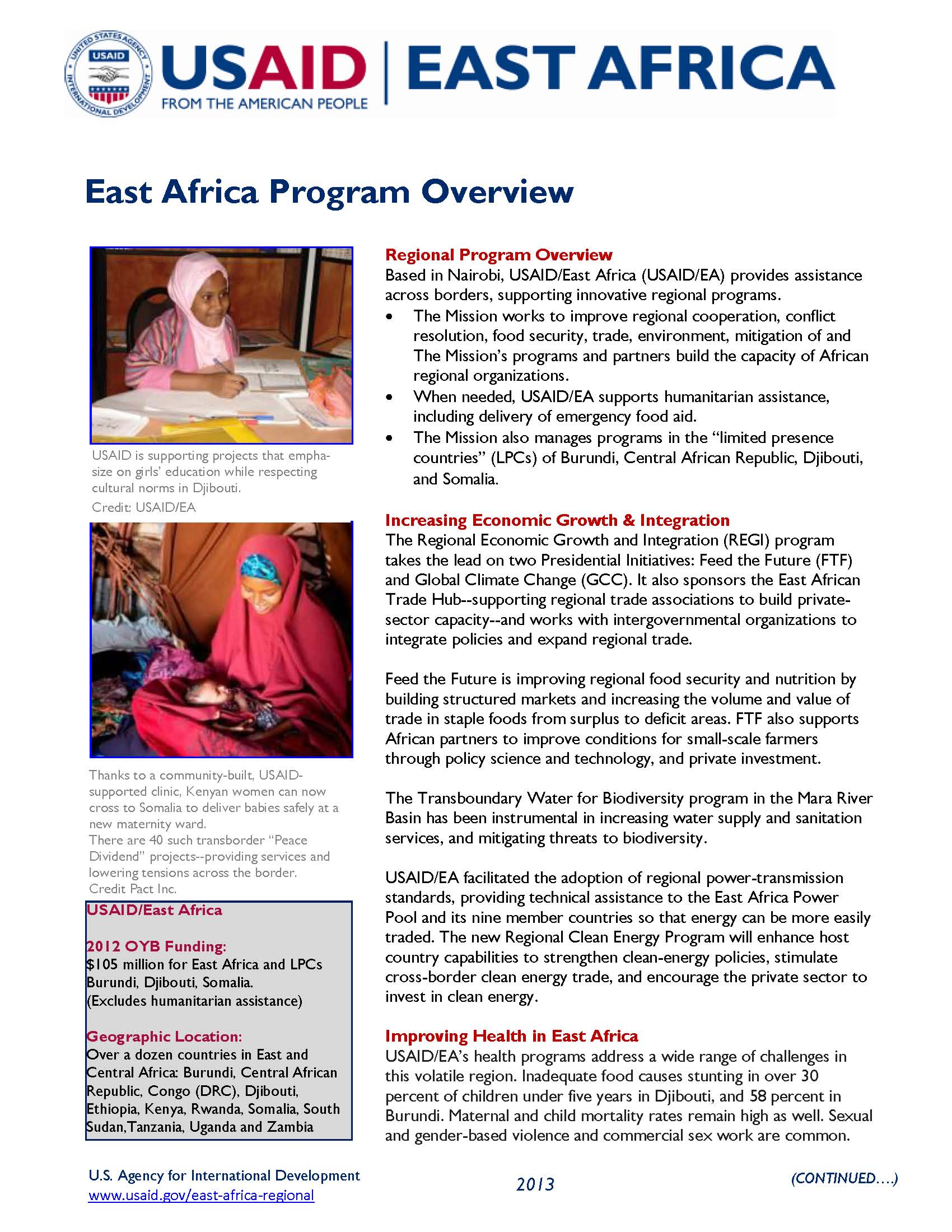 East Africa Program Overview