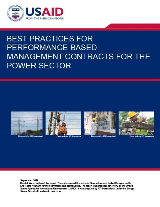 Best Practices for Performance-Based Management Contracts for the Power Sector